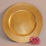 Gold Leaf Under Plate